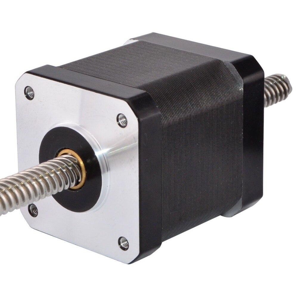محرك متدرج خطي غير أسير Nema 17 بطول 200 مللي متر ، 1.68A ، 4 أسلاك مع برغي رصاص Tr6.35x2 للطابعة ثلاثية الأبعاد