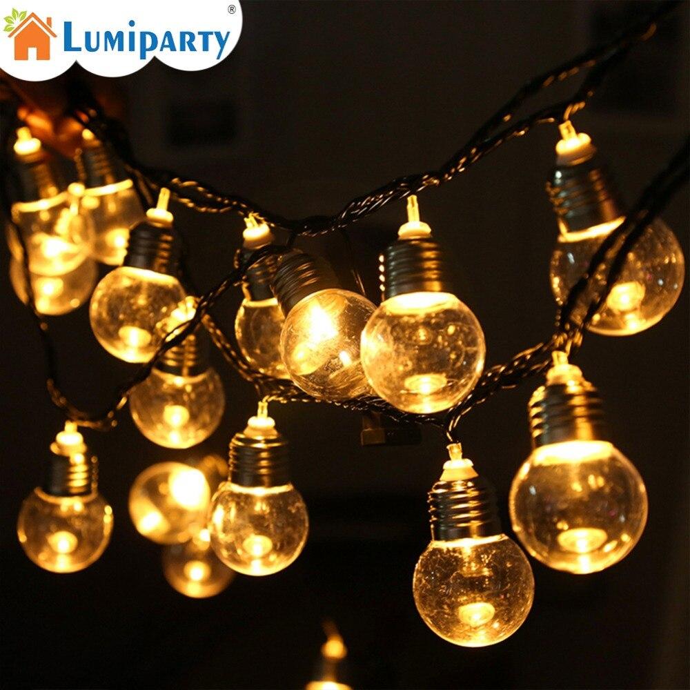 6 м 20 Led шаровая прозрачная шаровая лампа, сказочные гирлянды, гирлянда, лампа для сада, вечерние, свадебные, на день рождения, рождественские украшения, гирлянды