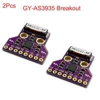 2Pcs GY-AS3935 AS3935 Breakout Light-ning Detector Digital Sensor Board Module SPI I2C Thunder Storm Distance Detection FZ3480