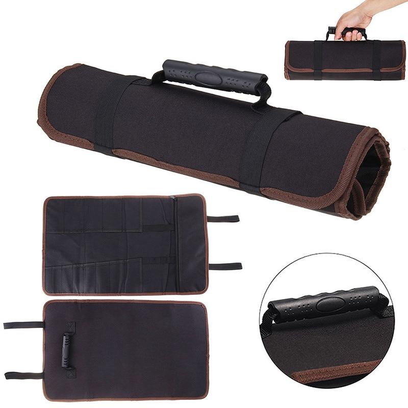 2019 New 3 Color Chef Knife Bag Roll Bag Carry Case Bag Kitchen Cooking Portable Durable Storage Pockets Black Blue Red