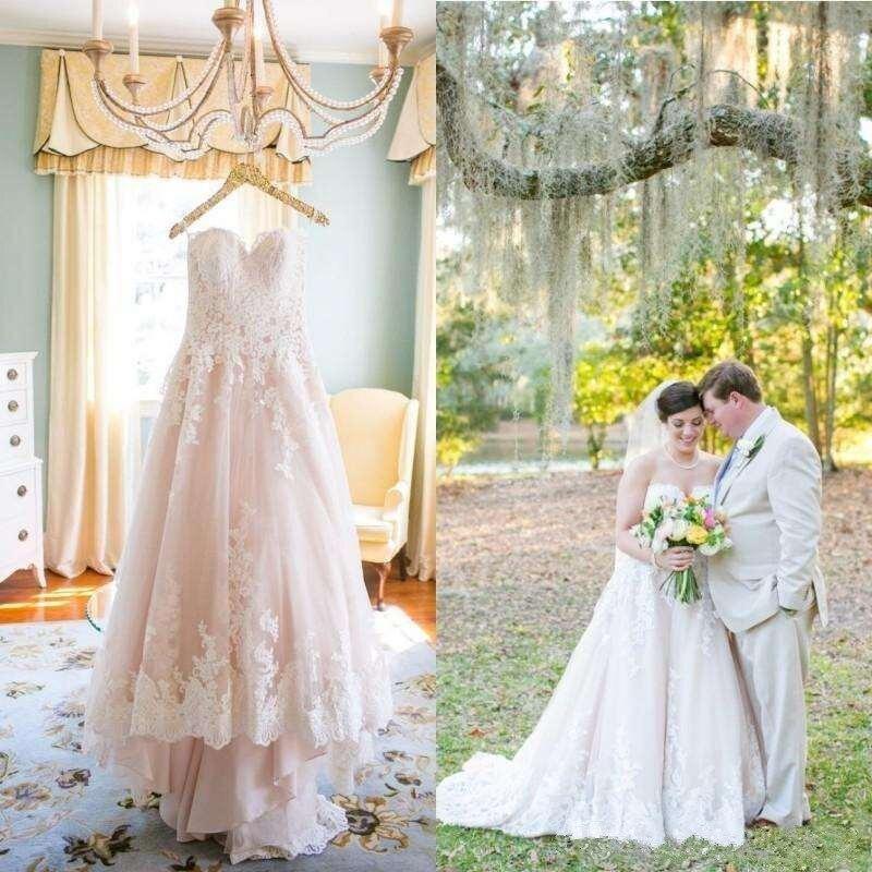 2021 Vintage encaje vestidos De boda escote con forma De corazón De...