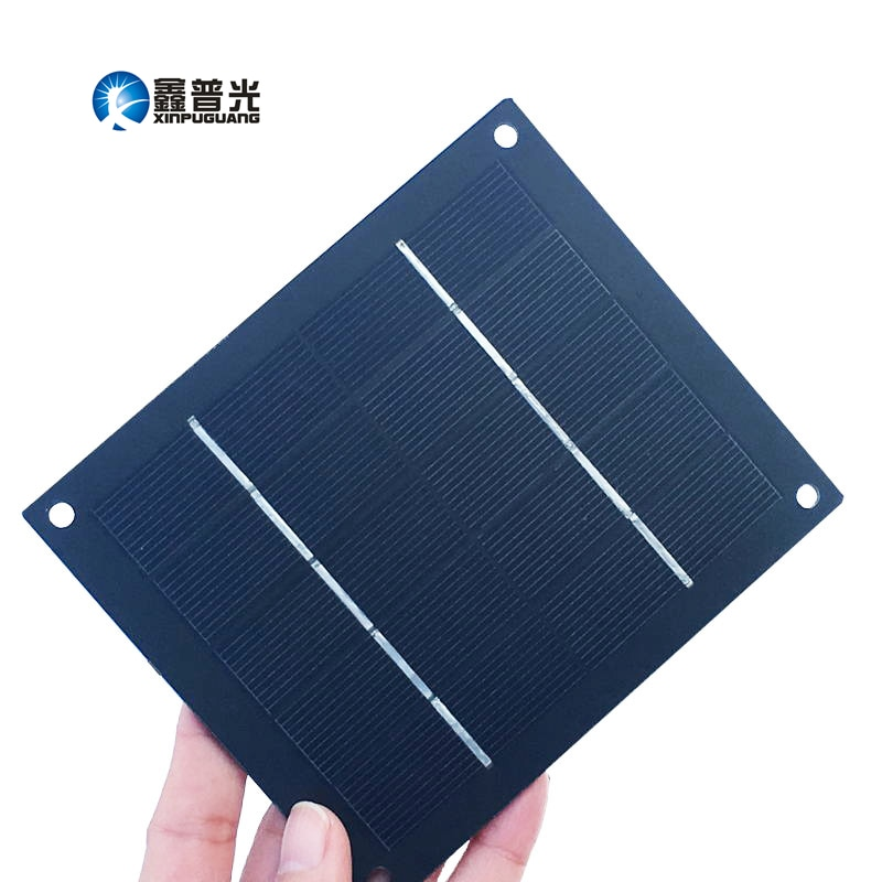 Xinpuguang 2 w 5 v mini diy painel solar de silício monocristalino célula pv ilhós kit para 18650 bateria brinquedos kit educacional