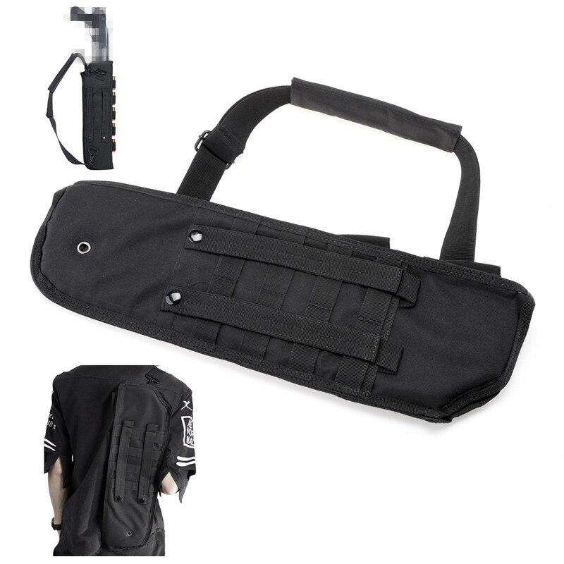 Funda para escopeta táctica de nailon funda para Rifle negra militar Molle bolsa de caza de asalto mochila larga de protección