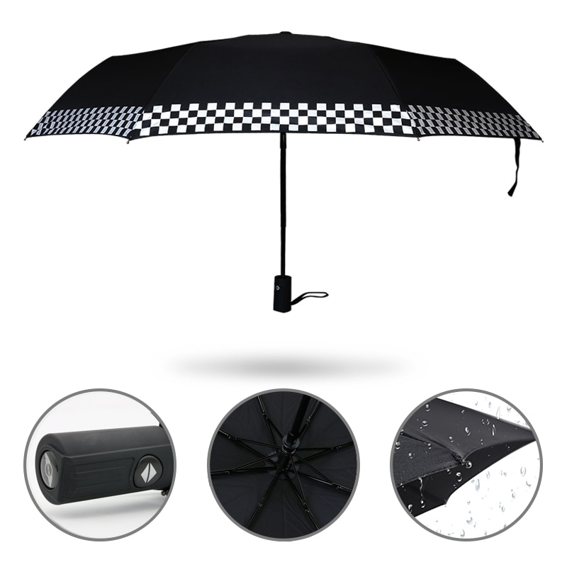 Dobrável guarda-chuva automático para mini countryman cooper clubman r55 r57 r58 r59 r60 jcw f54 f55 f57 r56 acessórios do carro adesivos