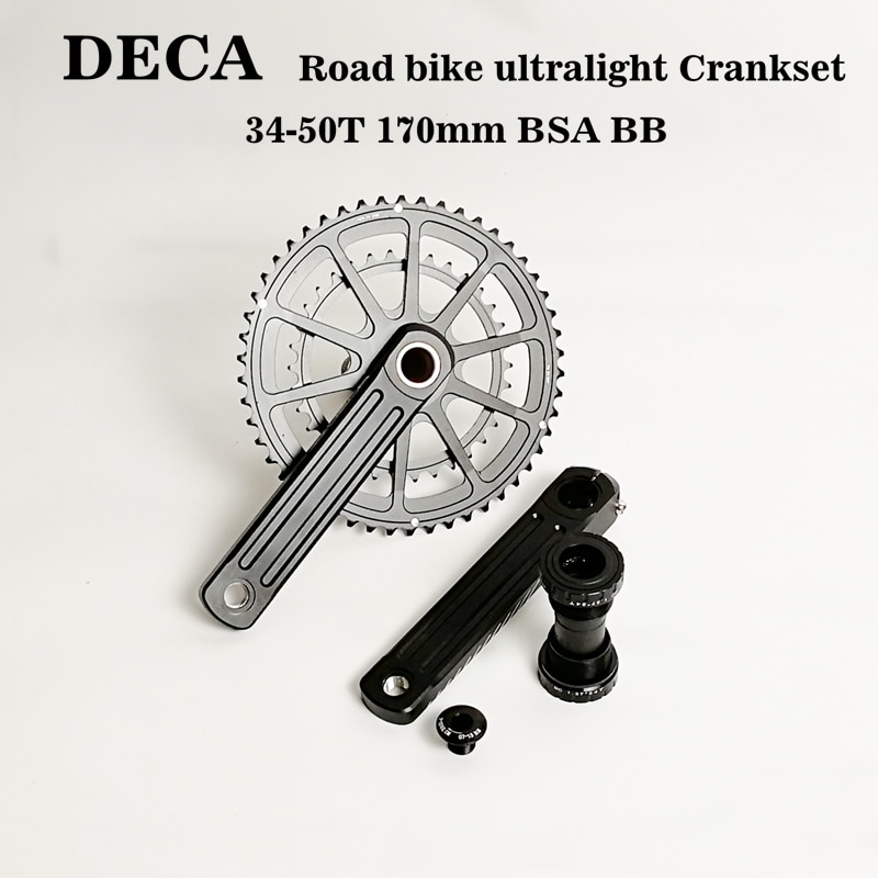 Deca 3d30 pedaleira da bicicleta de estrada 50/34 t 170mm 110bcd 10/11s bb86 para shimano 105 sram eagle