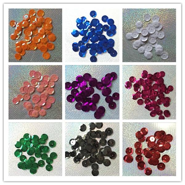 Lentejuelas planas Para Decoración del hogar, Lentejuelas de PVC de 12mm, 10g...
