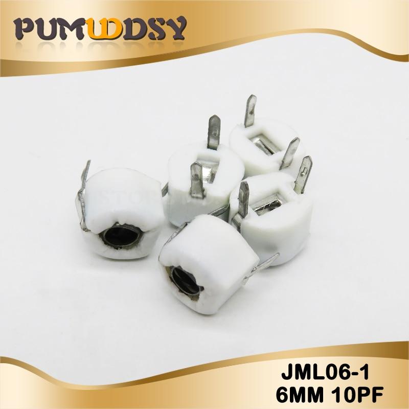 20pcs 10P 10PF 6mm JML06-1 JML06 DIP trimmer Adjustable capacitor