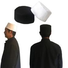 Cotton Mens Saudi Arabia Turban Muslim Cap Hats Men Prayer Hat Islam Egyptian Kufi Topi White Black Caps