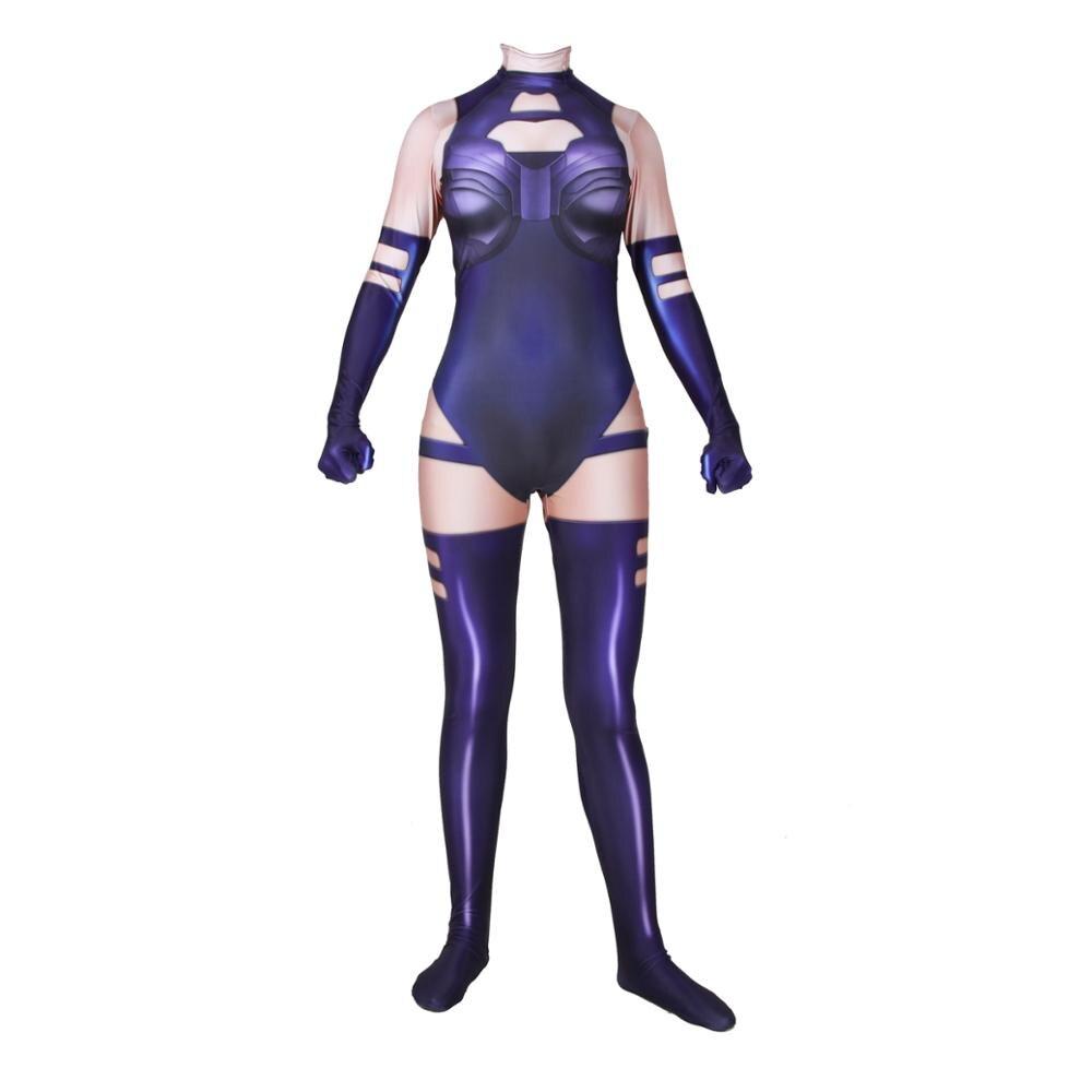 Superhéroe película x-men Psylocke Elisabeth Braddock mujer Cosplay disfraz Zentai mono traje monos adultos niños