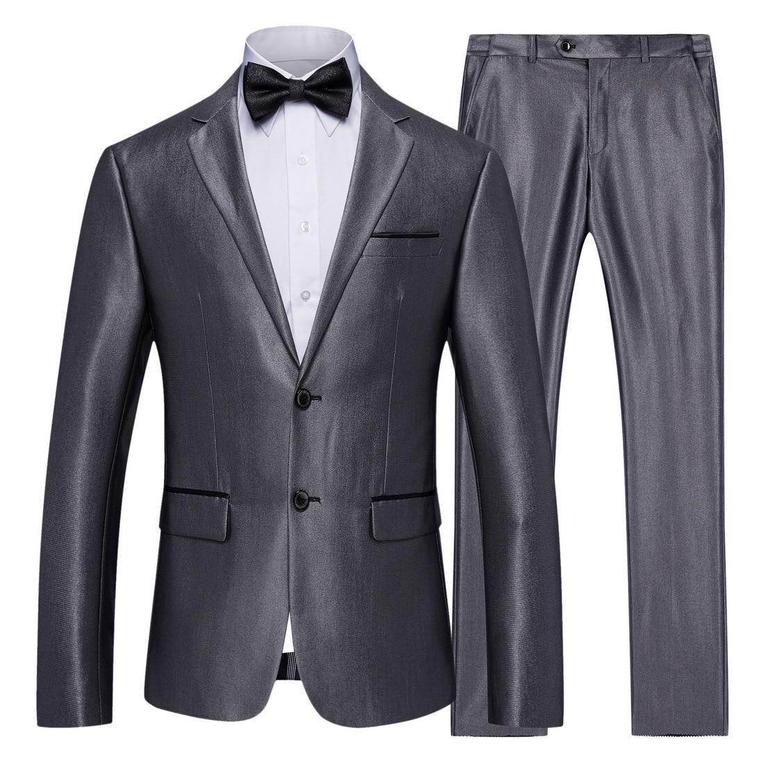 XF004 nuevo 2019 ropa S-5XL Traje De Hombre 2 sets profesional traje de negocios y boda novio padrino trajes para hombre, con pantalones