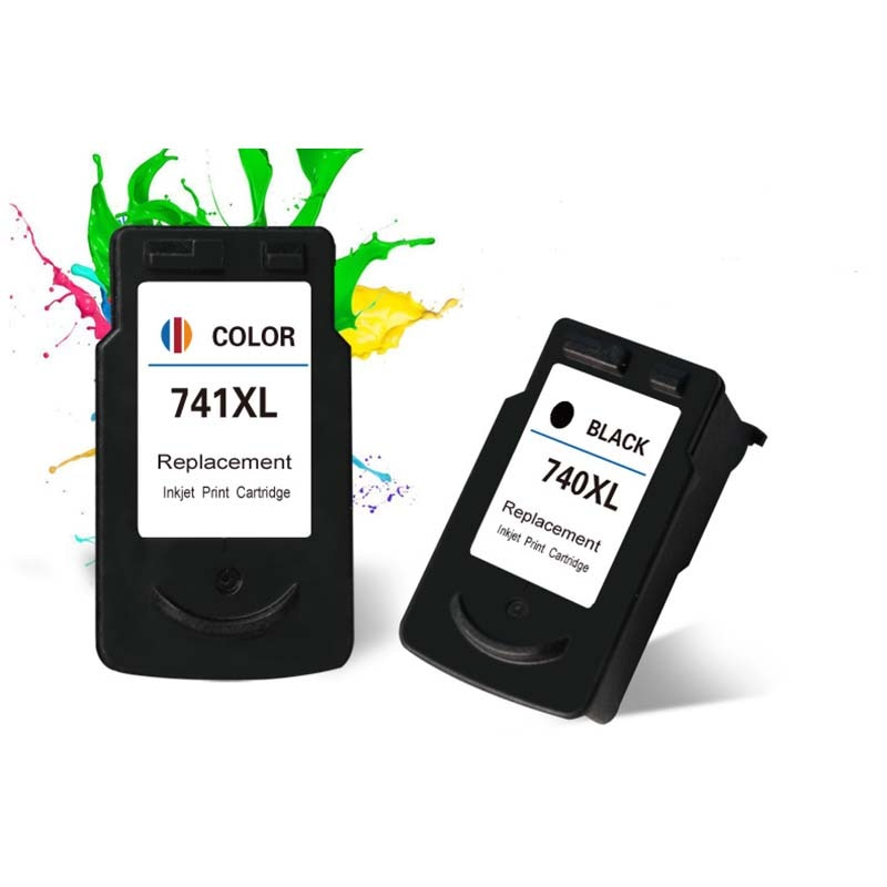 1 set PG740 CL741 PG-740 CL-741 compatible cartucho de tinta con tinta de tinte para Canon Pixma MX517 MX437 MX377 MG3170 MG2170 impresora