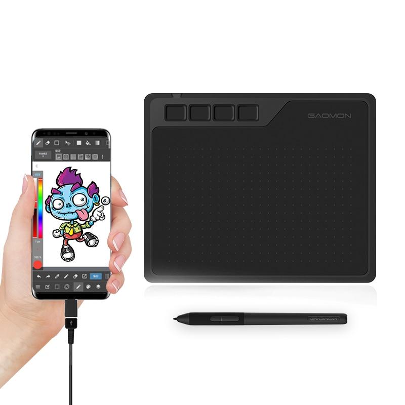GAOMON S620 6.5x4 بوصة لوحة رقمية دعم أندرويد الهاتف ويندوز نظام التشغيل ماك جهاز كمبيوتر لوحي للرسومات للرسم واللعب OSU