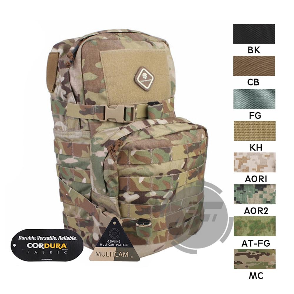 Emerson táctico de combate MOLLE/PALS Modular mochila de asalto EmersonGear mochila al aire libre con bolsa de hidratación 3L bolsa de transporte de agua