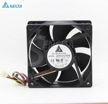 Pour delta afb1212her 12038 12cm 120mm 1.6A 4 fils 4 broches PWM axial ordinateur cpu boîtier ventilateurs de refroidissement