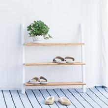 Étagère à chaussures assembler 3 cravates support blanc chaussures organisateur étagère entraxe meubles décor à la maison