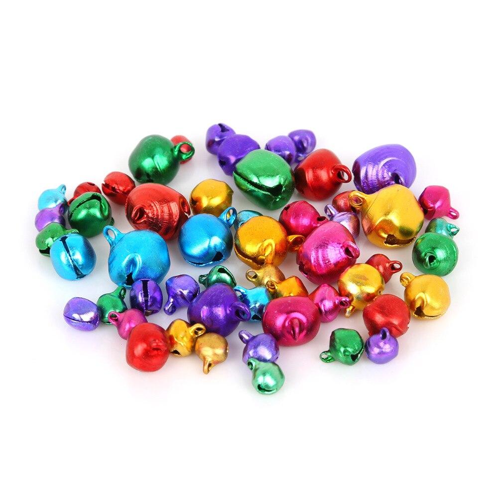 Großhandel 200 Teile/los Bunte DIY Handwerk Handmade Mix Farben Lose Perlen Kleine Jingle Bells Weihnachten Dekoration Geschenk 6/8/10mm