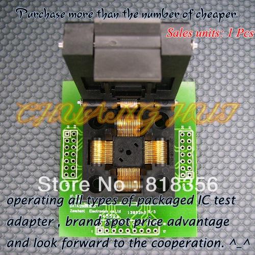 qfp64 test socket ic51 0644 692 test socket ic socket pitch 0 8mm TQFP64 QFP64 LQFP64 Adapter IC Test Socket Programming Adapter 0.5mm Pitch IC51-0644-807