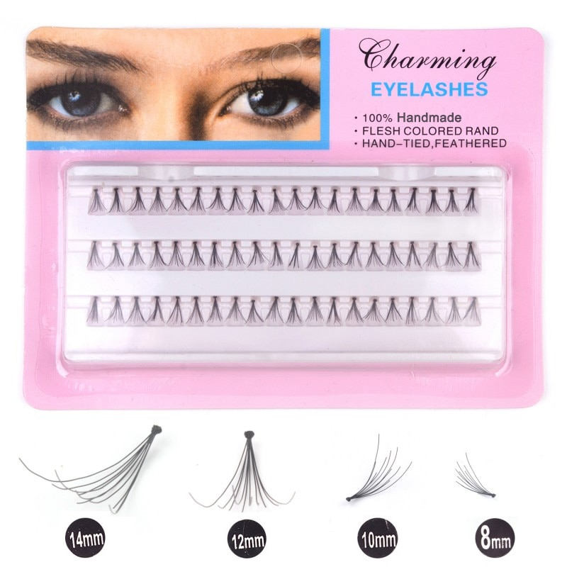 Volume Individual Silk Eyelashes Natural Handmade 8/10/12/14mm False Eyelash Extension Makeup Tools