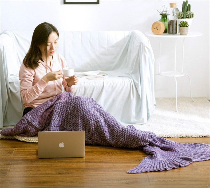 بطانية أريكة محبوكة يدويًا ، بطانية حورية البحر ، ملكة ، أميرة ، هدية ، ديكور منزلي فائق النعومة ، عرض خاص