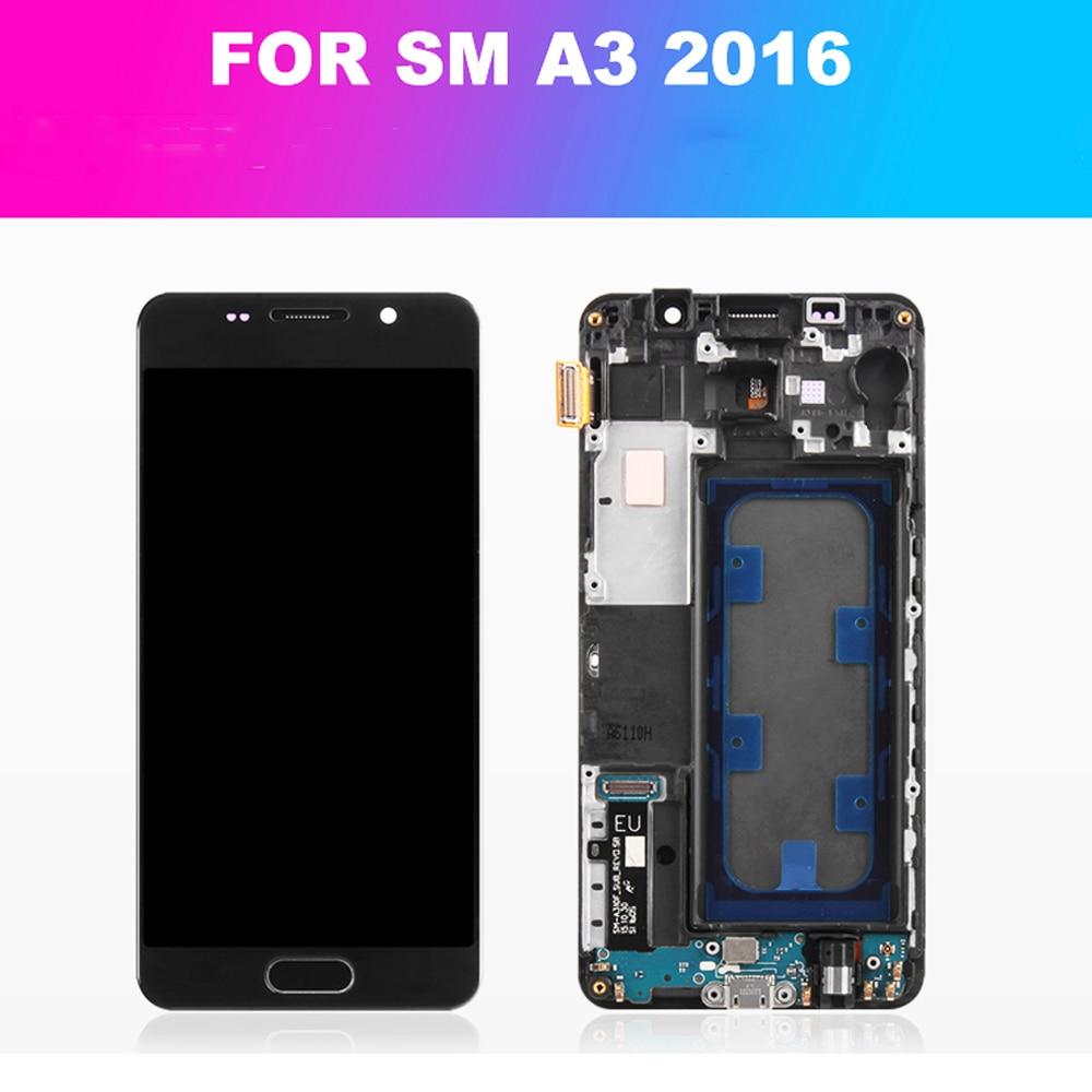 Super AMOLED 4,7 LCD para Samsung Galaxy A3 2016 LCD pantalla táctil montaje digitalizador A310 A310F A310H A310M A310Y LCD