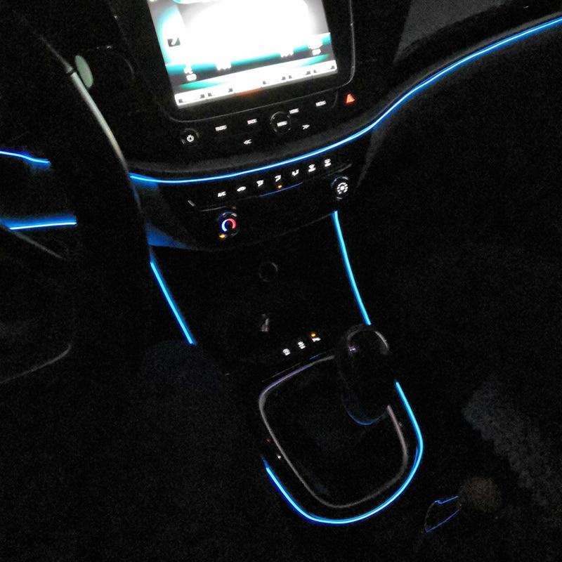 Flexible coche de neón atmósfera Interior luces de tira de LED para Lada Kalina y Priora Vesta rayos x Largus 4x4 Granta Niva Accesorios