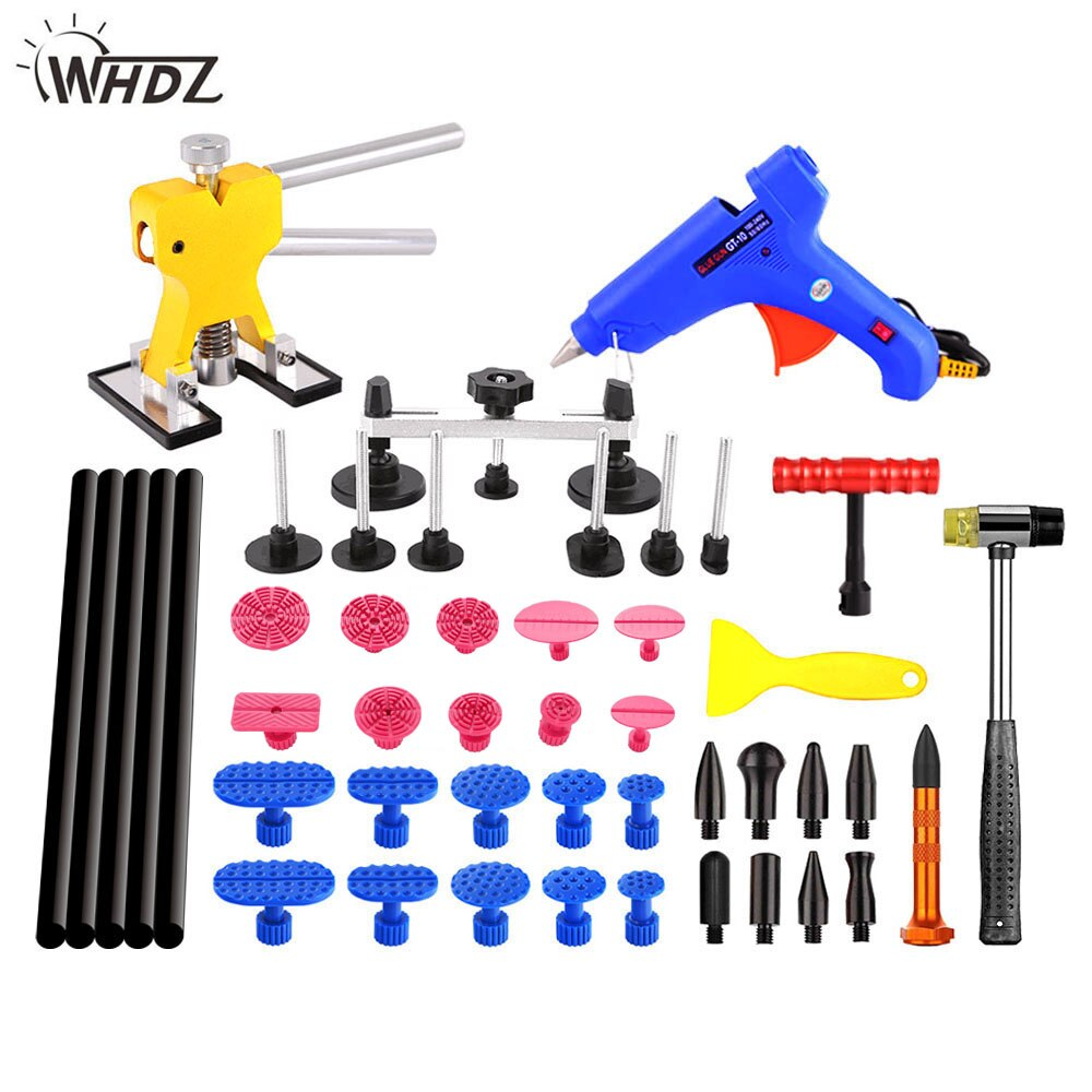 Herramientas de reparación de abolladuras WHDZ PDR herramienta de reparación de abolladuras del cuerpo del coche mejores herramientas de reparación de abolladuras en el auto extractor pegamento pestañas pistola de pegamento Ferramentas