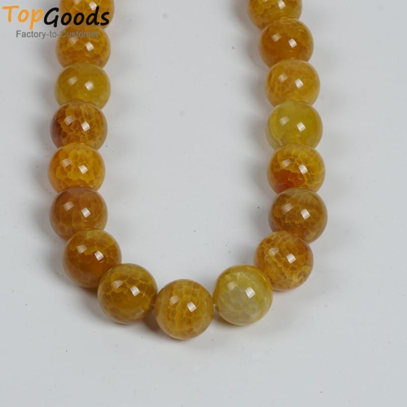 Topgoods natural enorme amarelo vien ágata 20mm tamanho grande redondo solto pedra diy charme colar pulseira jóias brinco acessório