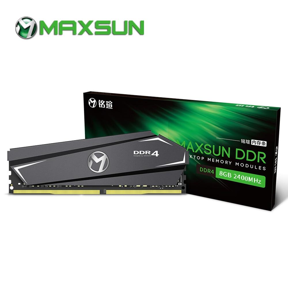 maxsun ram ddr4 4gb 8gb 16gb memory 2400MHz 2666MHz 3000MHz 1.2V 288pin Lifetime warranty Single memoria ram ddr 4 desktop dimm