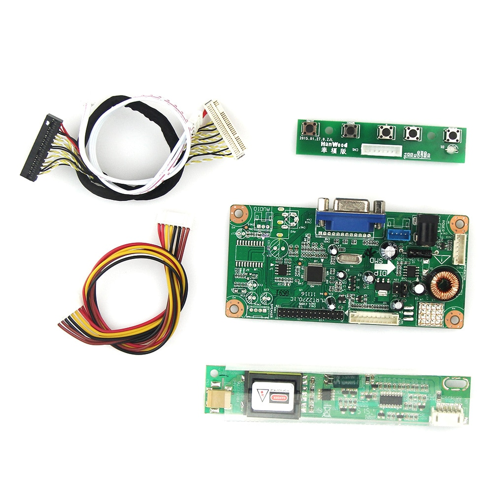 VGA Control Board For LP141WX1-TLE1 LP141WX5-TLC1 LCD/LED Control Driver Board 1280x800 LVDS Monitor Reuse Laptop