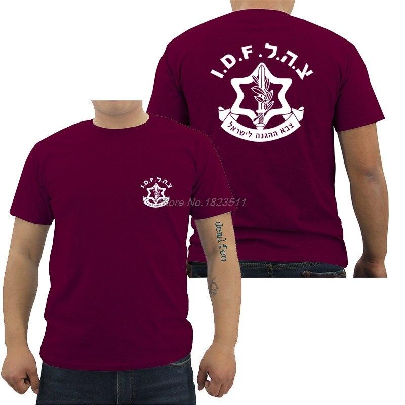 Camiseta fresca a la moda para hombre, verde oliva, Israel, Fuerzas de Defensa, ejército, Zahal, camiseta de manga corta de algodón para hombre, camisetas de Hip Hop