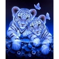 5d diy diamond painting full circular diamond painting tigers butterfly 3d embroidery cross stitch mosaic painting home decor