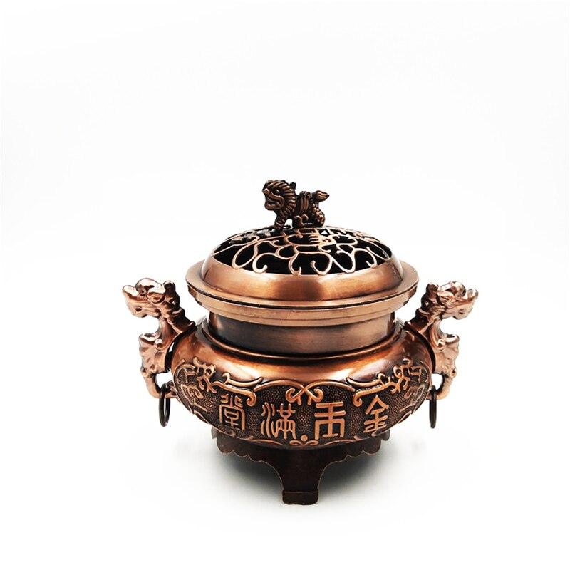 Mini liga com uma capa ssangyong fumado queimador de incenso decoração de escritório em casa salão de família para adorar o artigo s