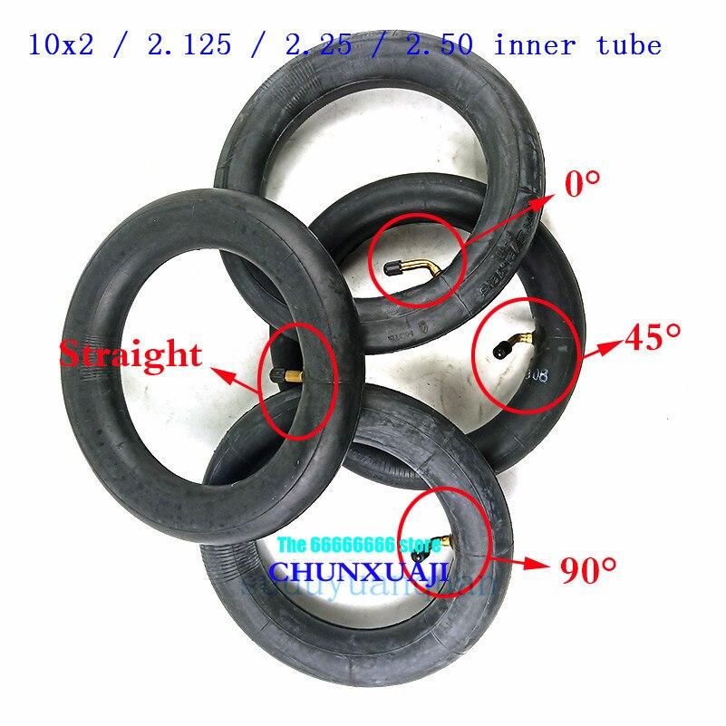 Tubo interno de goma de butilo 10x2 /2.125/2,25/2,50 para triciclo bicicleta Schwinn niños 3 ruedas cochecito scooter equilibrio Hoverboard