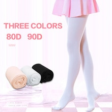 Fashion Nude Black White Footless Kid Tights Nylon Leggings Girls Children Ballet Dance Pantyhose 80D 90D