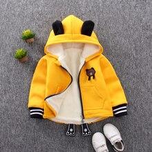 Baby Girls Jackets 2018 Autumn Winter Jackets For Boys Jacket Kids Warm Hooded Cartoon Outerwear Coats For Boys Coat