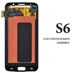 Reparo do telefone móvel substituição display para s6 lcd painel da tela de toque 5.1 Polegada amoled g920 g920a g920f g920i pantalla