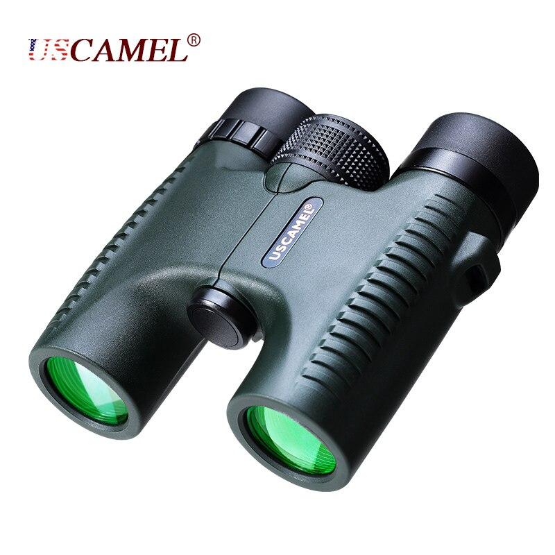 USCAMEL militar compacto 10x26 HD binoculares impermeables visión clara Zoom telescopio profesional para viajes de caza al aire libre