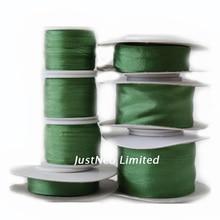 Ruban en soie taffetas Double Face   Vert profond 253, broderie de soie de mûre Pure, ruban artisanal 2-32mm (100% -- 1 pouce)