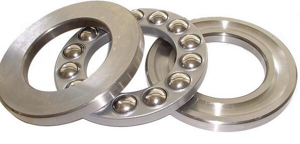 1pc de tono de plata 51304, 51305, 51306, 51307, 51308, 51309, 51310, 51311 magnético Axial Cojinete de bolas de empuje
