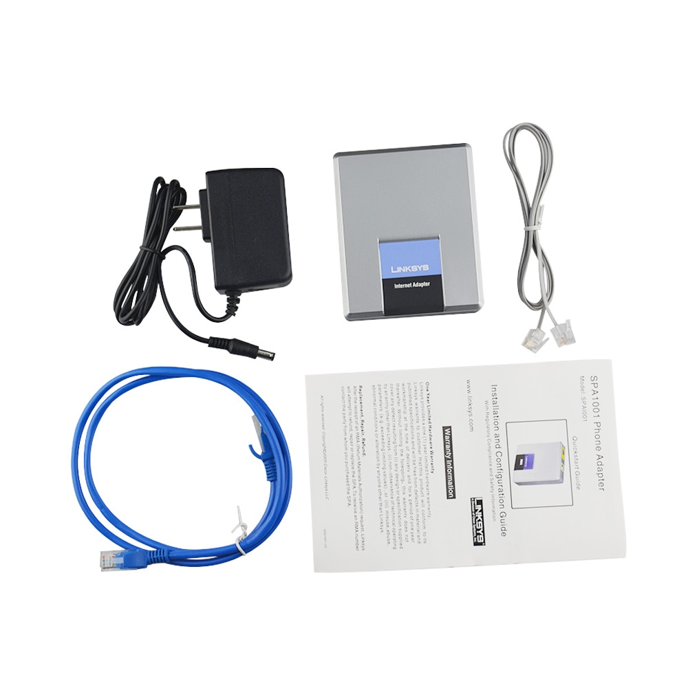 Original Linksys SPA1001 SIP FXS VOIP Phone Adapter VOIP gateway SPA1001 no retail box