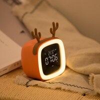 Alarm Clock Changing Digital Desk Gadget Digital Night Clock Temperature & Calendar Snooze Function Alarm Clock 3DNZW02