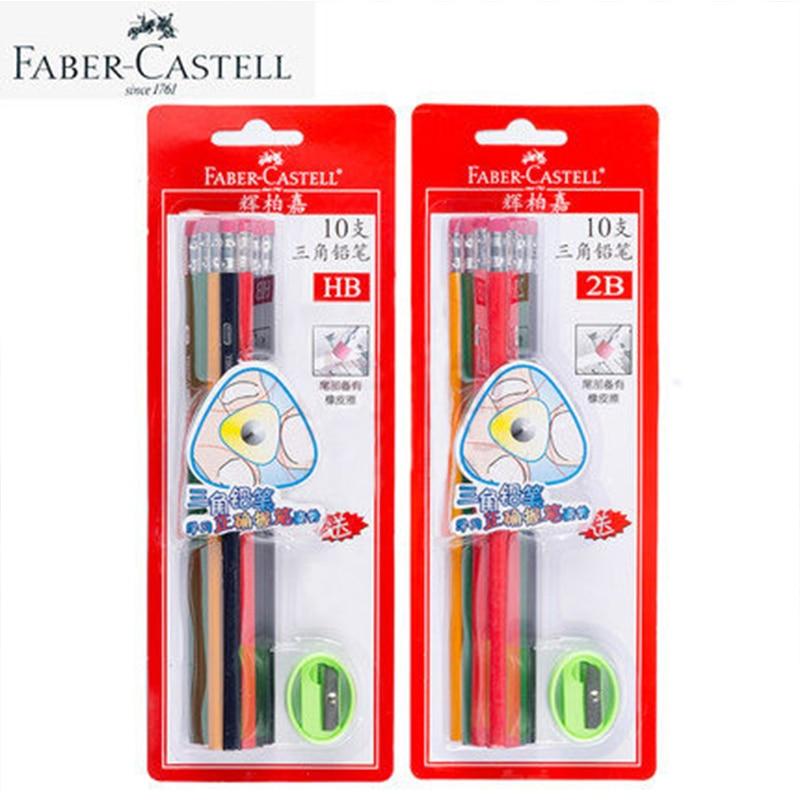 Faber-Castell треугольник студент пишущий карандаш пояс резиновая голова цвет бар Детская осанка ручка для письма HB/2B