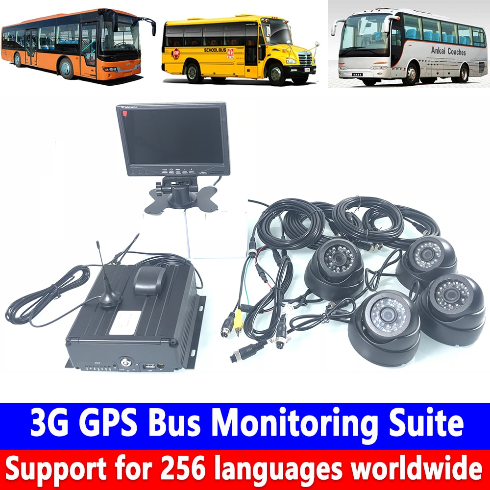 Venta al por mayor de fábrica grabadora de tarjeta SD de disco duro PAL/sistema NTSC 3G GPS bus kit de monitoreo cisterna/camión grande