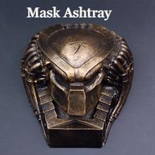 Legal presente avp estátua alienígena vs predador busto máscara resina cinzeiro figura de ação collectible modelo decoração para casa ornamento
