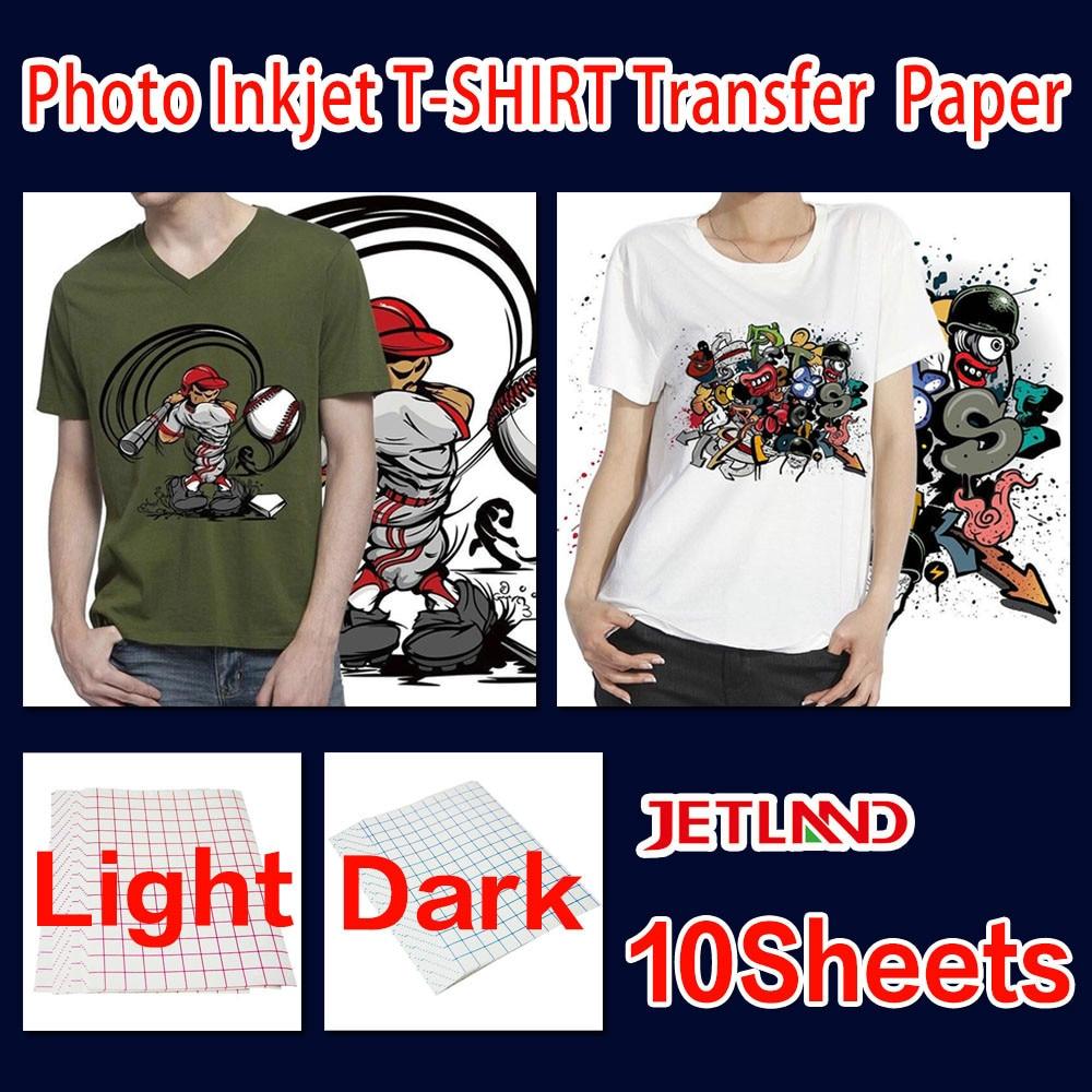 Термокопировальная бумага A4 для струйных принтеров, копировальная фотобумага для темных вещей или светильник, цветная одежда, 10 листов/упа...