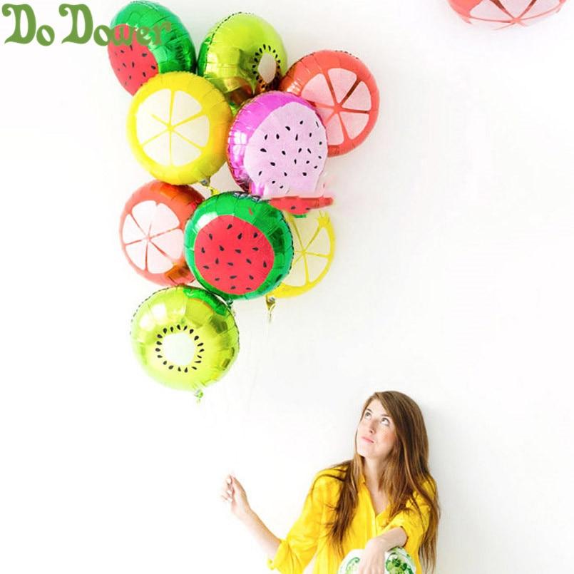 6 uds globos de caramelo de frutas naranja Kiwi sandía fresa rosa caramelo fiesta de cumpleaños boda 18 pulgadas globos de helio juguetes de globo