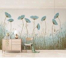 Papier peint Mural fleur 8d Simple et esthétique   Autocollant 3D vert menthe poivré pour décoration murale de salon