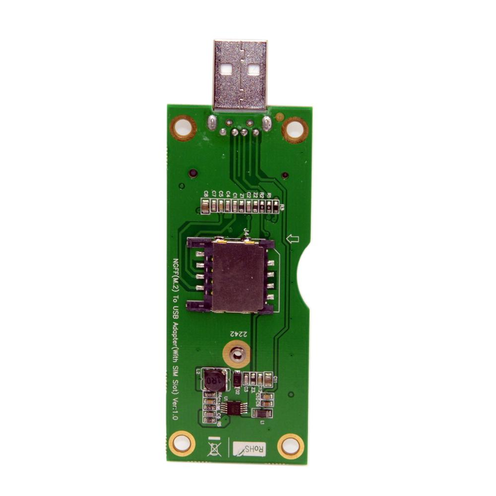 NGFF M.2 clave-B USB de la tarjeta SIM WWAN LTE 4G adaptador de ranura para tarjeta para