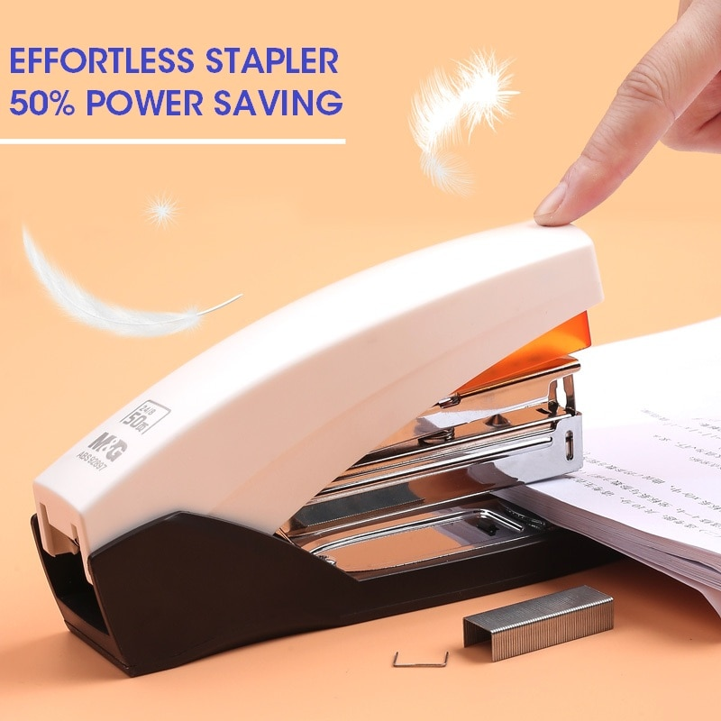 M&G 25/50 Sheets Effortless Heavy Duty Stapler Paper Book Binding Stapling Machine standard School O