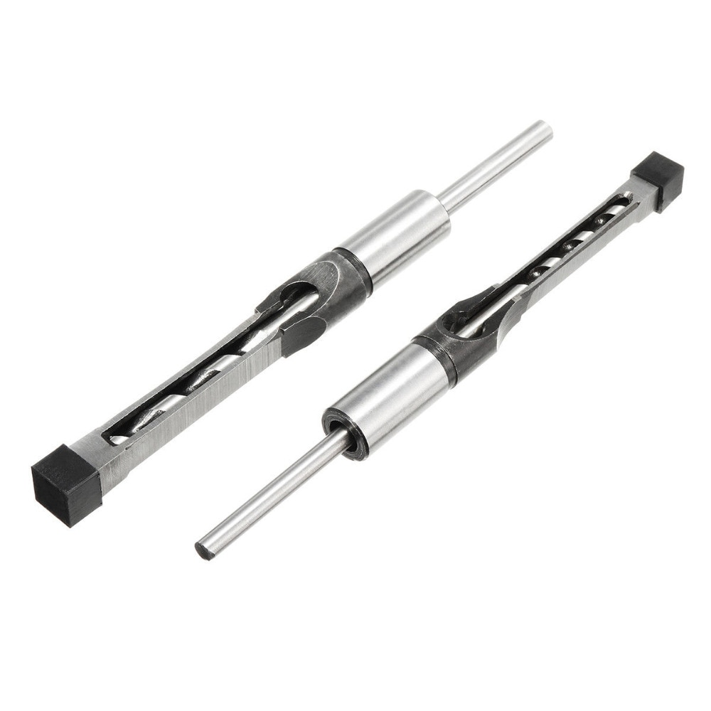 WENXING 6PCS 6mm 8mm 9.5mm 12.7mm 14mm 16mm Square Hole Saw Drill Bit Auger Mortising Chisel 1/4 5/16 3/8 1/2 9/16 5/8